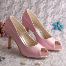 Custom Made Pink Color Wedding Shoes Heeled High Quality