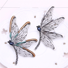 dragonfly brooch for men suit jewelery women metal pin badge cute pins and brooches rhinestone broches mujer