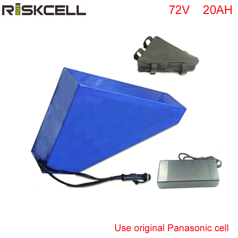 Triangle 72v 20ah li-ion battery 72v 20ah ebike battery 72v 3000w electric bike battery for electric bicycle with Panasonic cell 48v 34ah triangle lithium battery 48v ebike battery 48v 1000w li ion battery pack for electric bicycle for lg 18650 cell
