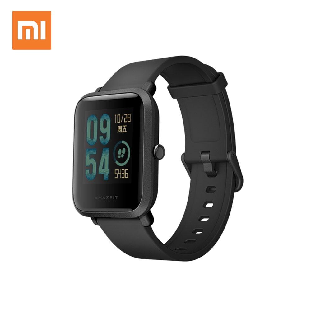 $57.99 = $59.99- $2 CUPÓN Versión inglesa Xiaomi reloj inteligente Amazfit Bip para hombre Hua mi Pace Smartwatch para IOS Android Monitor de ritmo cardíaco 45 días de batería - 2
