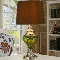 Tuda envío gratis clásico lámpara de mesa de cristal estilo de país americano lámpara de mesa para sala de estar sala de estudio