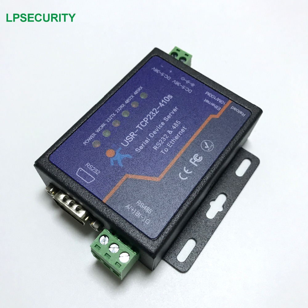 DC 5 6V Industrial Serial RS232 RS485 to Ethernet TCP IP Converter Modbus RTU USR TCP232
