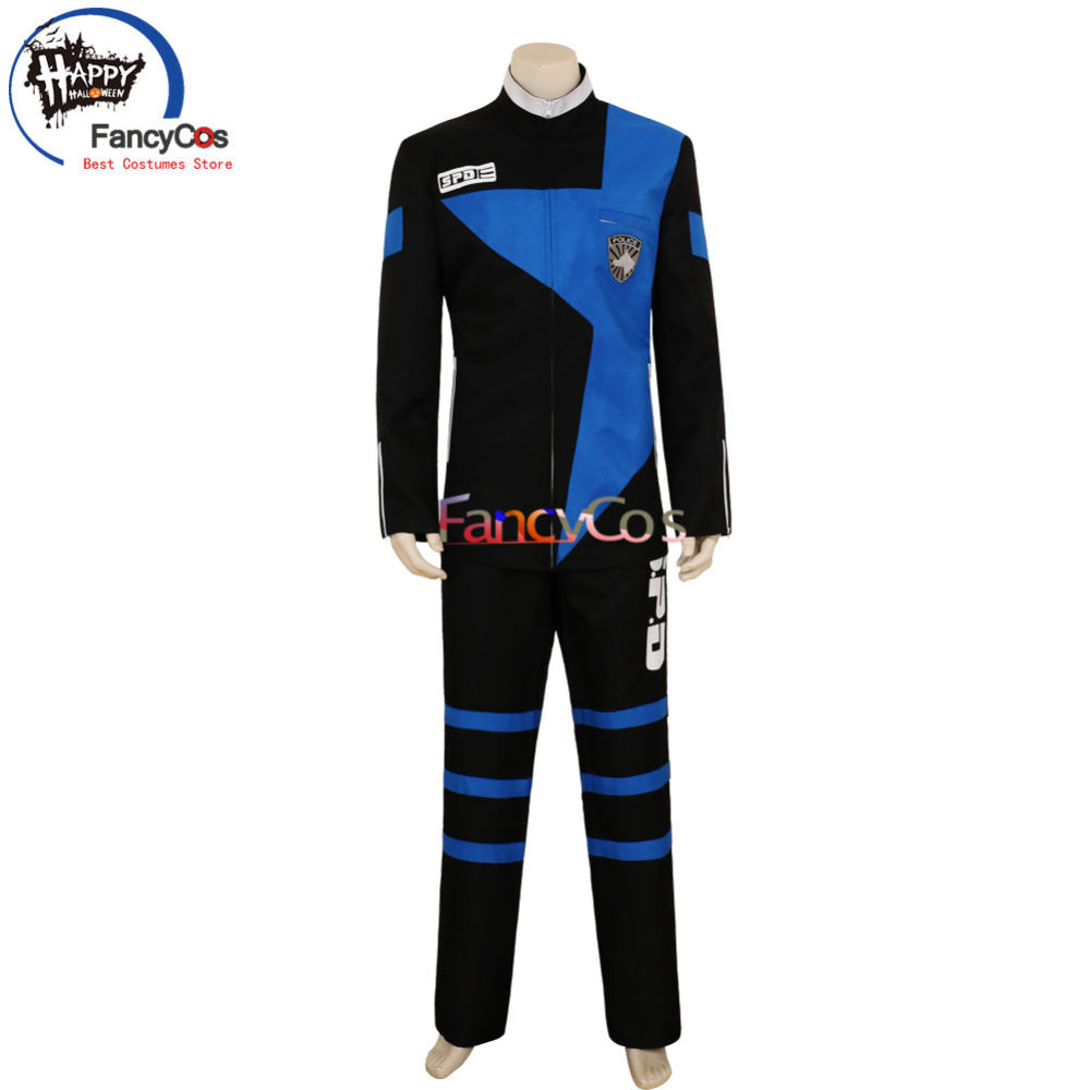 Halloween Tokusou Sentai Dekaranger Hoji Tomas Deka Blue Cosplay Costume Adult Deluxe High Quality Custom Made Anime Movie
