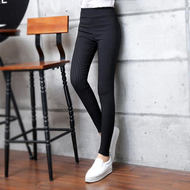 Women's Striped Classic Style Leggings XXS-L