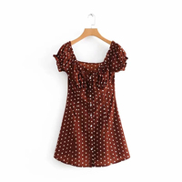 8024eec933c3d 2019 Boho Elegant Ruffles Polka Dot Dress Women Summer Dress Korean  Backless Beach Party Dress Ladies
