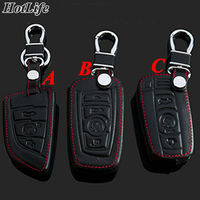 100 Genuine Leather Car Keychain Key Case Cover For BMW Series 520 GT New 3 7