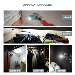 Image 2 - Kaku Đa Năng Bản Lề Đèn Bếp Phòng Ngủ Phòng Khách Tủ Tủ Tủ Quần Áo 0.25W Bên Trong Đèn LED Cảm Biến Ánh Sáng Nội Thất Phần Cứng