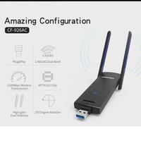 Free Driver IEEE802 11ac Dual Band 2 4Ghz 5Ghz 1200Mbps Wireless Wifi Adapter COMFAST USB 3
