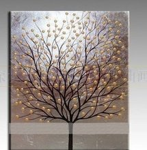 MODERN ABSTACT OIL PAINTING 100%PAINTED BY HAND life tree free shipping