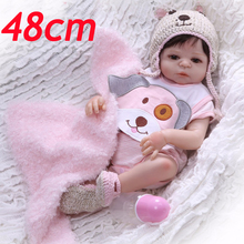 2019 new bonecas real silicone vinyl reborn baby dolls smooth hair girl princess bebe hot party toys gift for girls lol doll 48c new 52cm reborn dolls toys reals premmices baby girl doll toys soft cloth body silicone vinyl dolls children gift babies bonecas