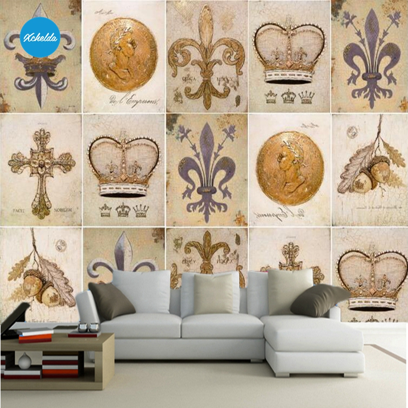XCHELDA Custom 3D Wallpaper Design Retro Style Photo Kitchen Bedroom Living Room Wall Murals Papel De Parede Para Quarto kalameng custom 3d wallpaper design street flower photo kitchen bedroom living room wall murals papel de parede para quarto