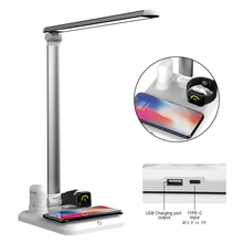 Folding 4 in 1 Wireless Desk Lamp Fast Charging Dock for Apple Watch Mobile Phone Earphone ChargingQuick charging