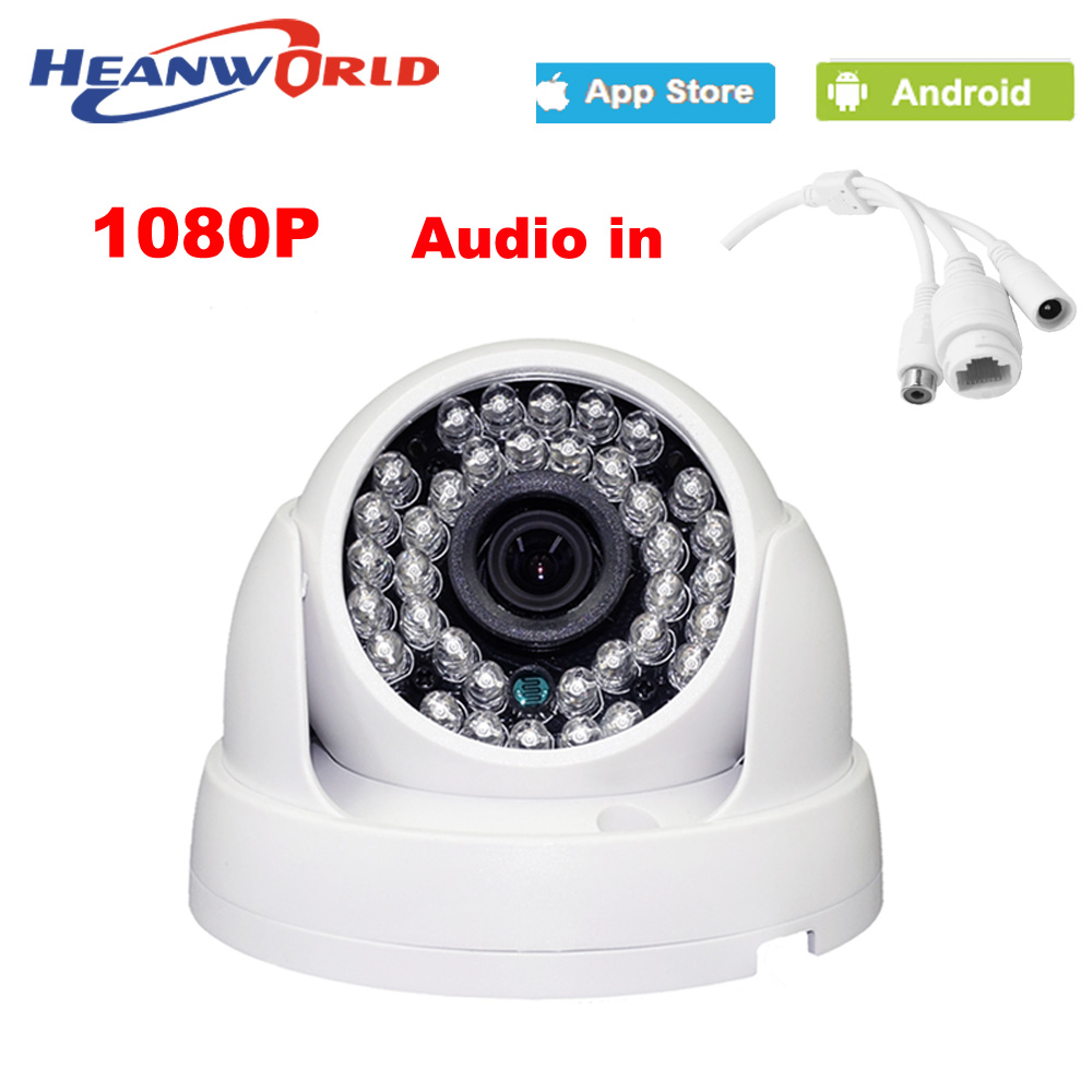 HD dome camera 1080P mini 2.0MP IP Camera with audio Night Vision ONVIF CCTV Security Camera Network IP Cam for home indoor use audio 2 0mp 1080p ip dome camera onvif p2p 24ir night vision indoor security