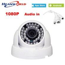 HD купольная камера 1080 P мини 2.0MP Ip-камера с аудио Ночь видение ONVIF CCTV Камеры Безопасности Сети Ip-камера для дома крытый использовать