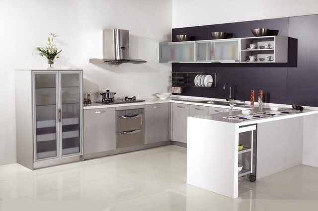 aliexpress : buy modern l shape kitchen cabinet e1 kitchen