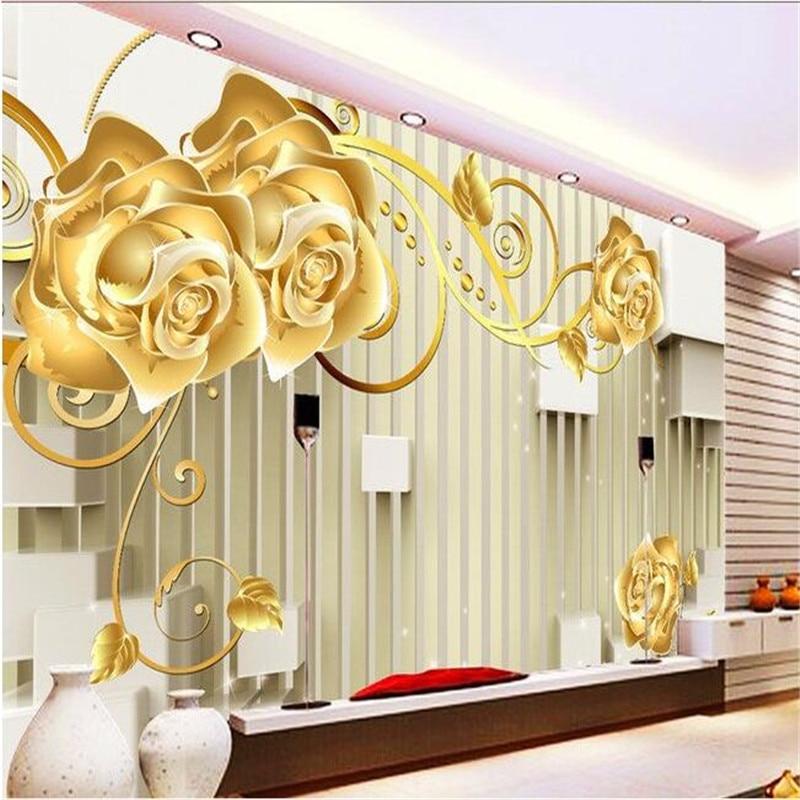 Home Design 3d Gold: Beibehang Photo Wall Mural Wallpaper 3d Luxury Quality HD