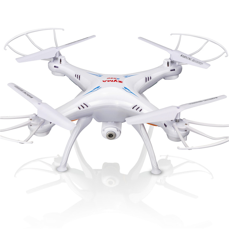 Syma X5SW Drone with WiFi Camera Real-time Transmit FPV Quadcopter 2.0MP HD Camera Drone 2.4G 4CH RC Helicopter-white syma x8c 2 4g 4ch professional fpv quadcopter drone with hd camera wifi real time transmit control helicopter toy