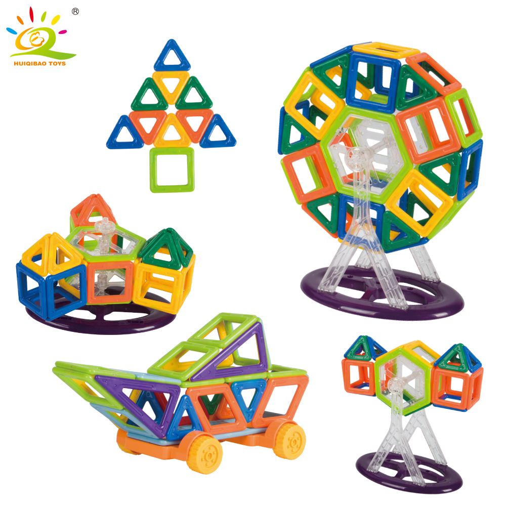 68pcs 3D DIY Mini Designer Magnetic Blocks Educational Construction Set Building magnet Bricks car Toys For Children kids gift