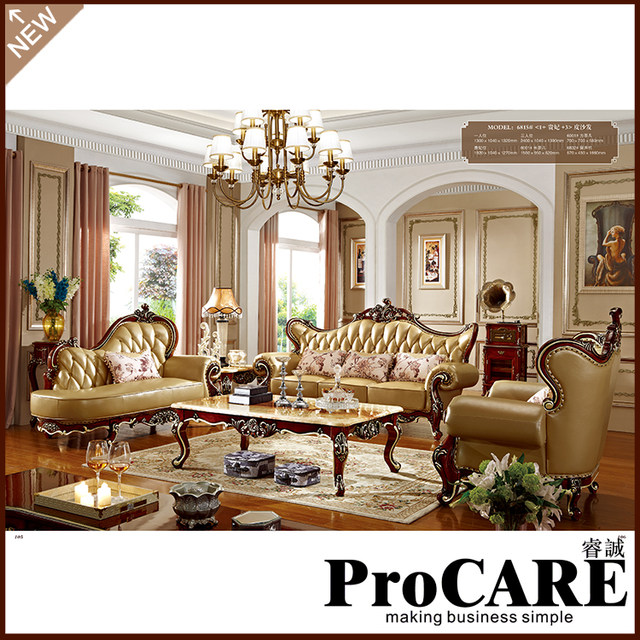 Royal Living Room Furniture. Hand carved Luxury French Baroque Style Living Room Classic Royal fabric  Sofa Set 1 2 3 Online Shop