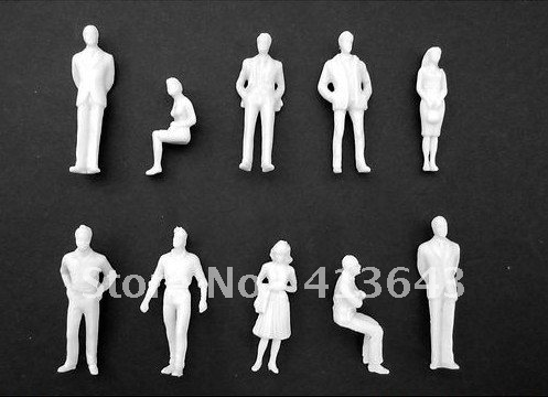 200pc 1 50 Ho Scale Model White Unpainted Figures People