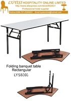Folding Banquet Table Plywood 18mm With PVC White Top Steel Folding Leg 2pcs Carton Fast Delivery