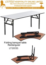 30″W x 72″D x 30″H mm Folding banquet table,Plywood 18mm with PVC(White)top,steel folding leg,2pcs/carton,fast delivery
