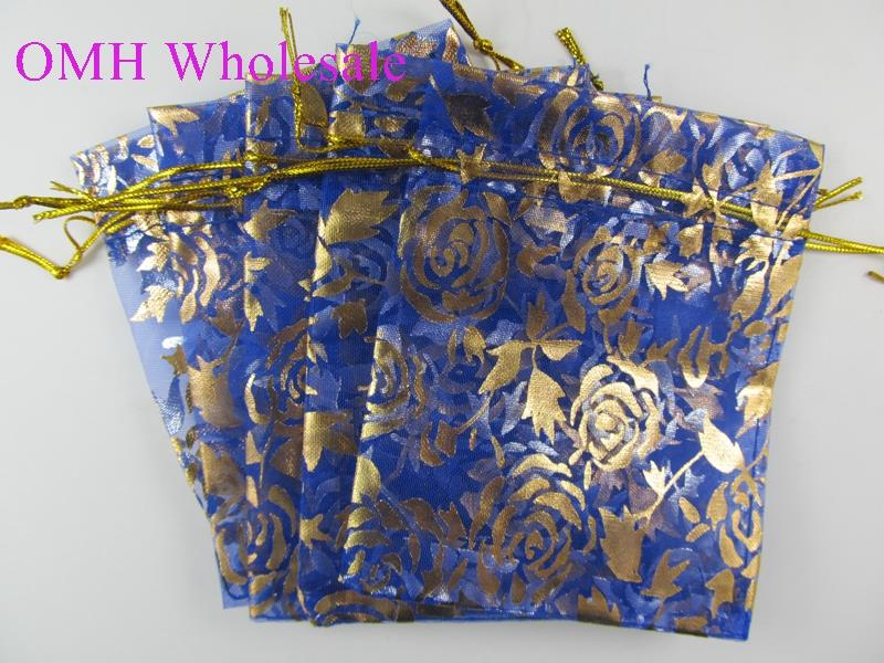 OMH wholesale 50pcs 13x18cm 10color mix chinese Christmas Wedding voile gift bag Organza Bags Jewlery packing Gift Pouches BZ08 in Jewelry Packaging Display from Jewelry Accessories