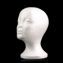 Female Styrofoam Mannequin Manikin Head Foam maniqui Model for Cap Wig Hair Glasses Display Drop Shipping