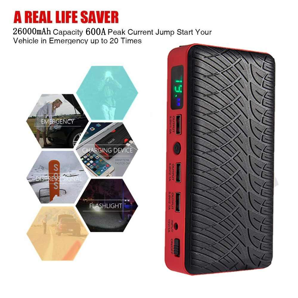 aaf09c067c0a97 Jump Starter Car 26000mAh Booster Diesel Hot Sale Starters Batteries for  12V Portable Cars Starting Best