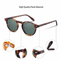 2017 Vintage Occhiali Da Sole Donne/uomini Rotondi Grandi Dimensioni Oversize lente Del Progettista di Marca eyeglow Retro UV400 Occhiali Da Sole lenti Polarizzate