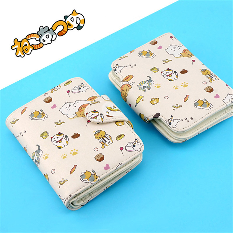 New Neko Atsume Short Wallet Kawaii Harajuku Women Girls Credit Card Holder  PU Cat Backyard Purse For Students In Wallets From Luggage U0026 Bags On ...