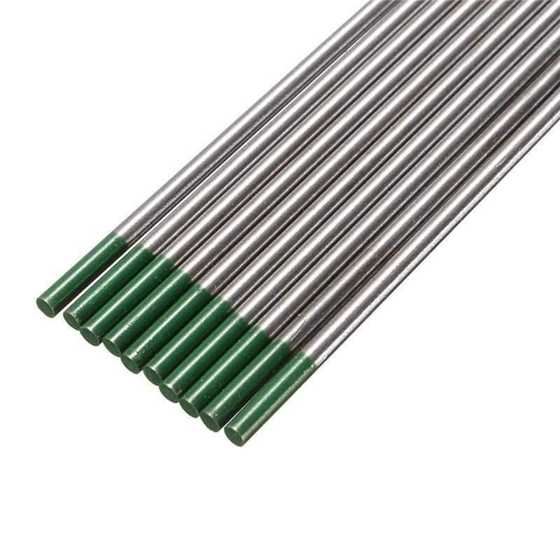 10Pcs/box WP20 Green Thoriated Tungsten Electrode Tip TIG Welding Electrodes