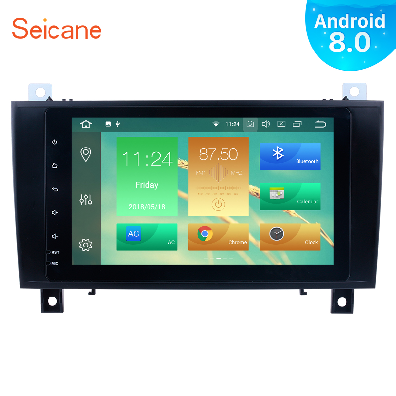 Seicane Android 8.0 8inch 2 Din GPS Car Radio For 2000-2011 Mercedes SLK Class R171 SLK200 SLK280 SLK300 SLK350 SLK55 seicane 2din android 8 0 7inch car radio stereo gps multimedia player for mercedes benz slk class slk200 slk280 slk350 slk55
