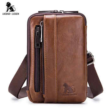 Genuine Leather Male Waist Fanny Packs Belt Bags Small Messenger Shoulder Men Phone Pouch Blosa Card Holder Key Cigarette Case - DISCOUNT ITEM  47% OFF All Category