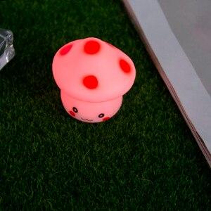 Image 5 - Nowy 1pc LED lampka nocna kolorowe grzyby naciśnij w dół dotykowy stołowa lampka nocna dla dziecka dzieci prezenty świąteczne projektowanie wnętrz
