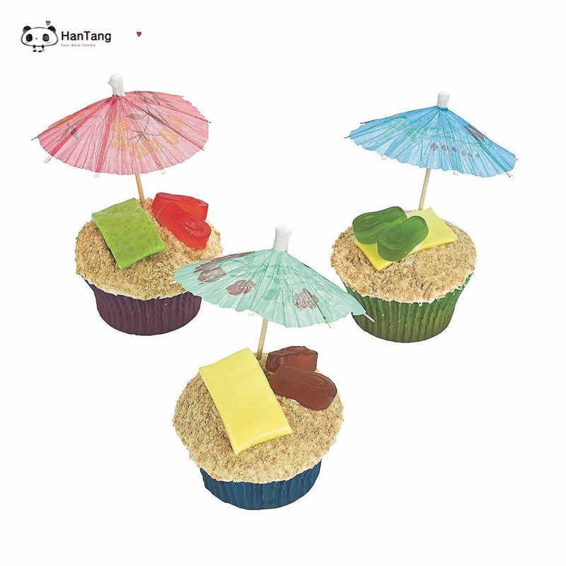 50 pçs/lote Cocktail Guarda-chuva Decorativo Forma Lanche Bolos Decoração De Frutas Decoração do Guarda-chuva Em Forma de Vara De Bambu Vara De Bambu 5zSH915