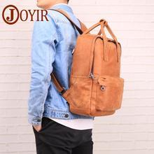 JOYIR Men's Genuine Leather Backpack High Quality New Man Shoulder Bag 14