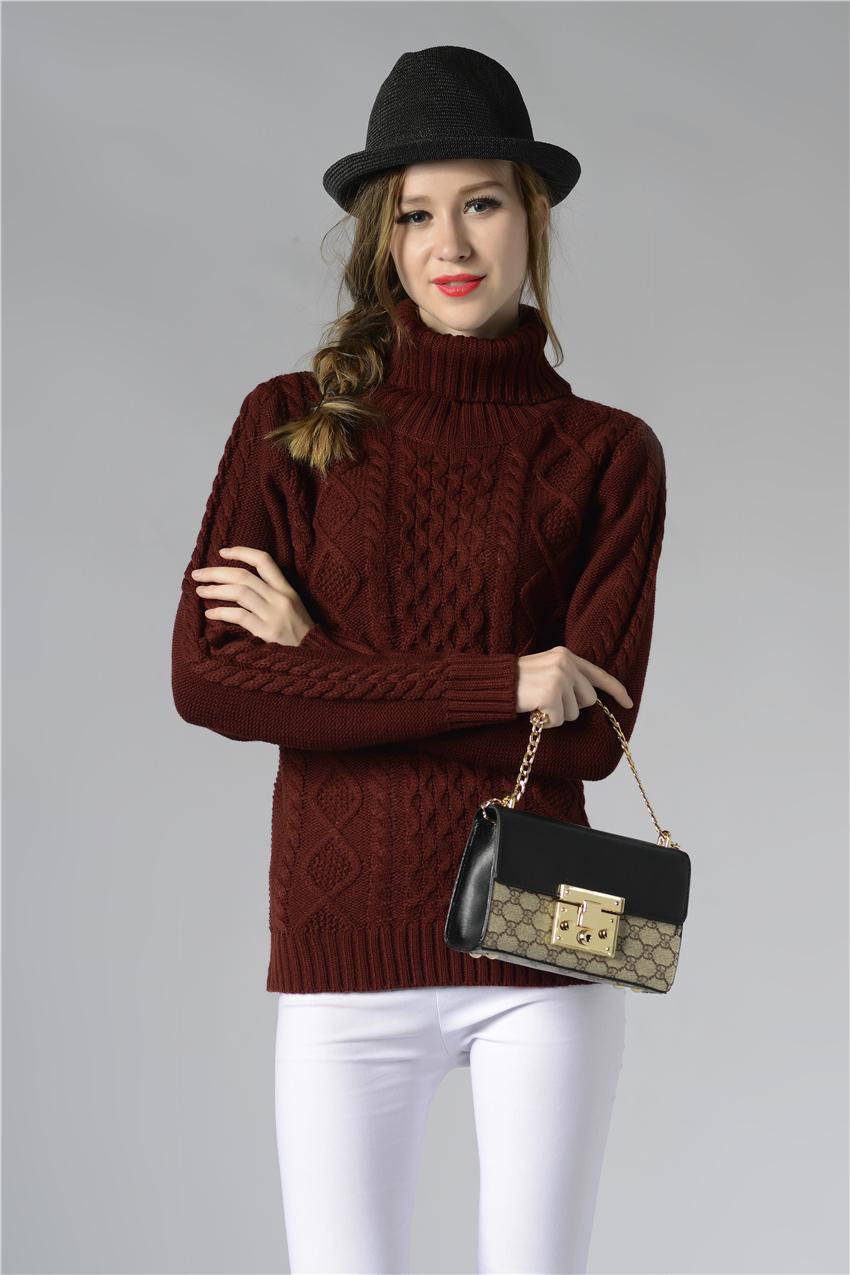 HTB1MHkLSpXXXXXeXXXXq6xXFXXXo - FREE SHIPPING ! Sweater Long Sleeve Turtleneck JKP196