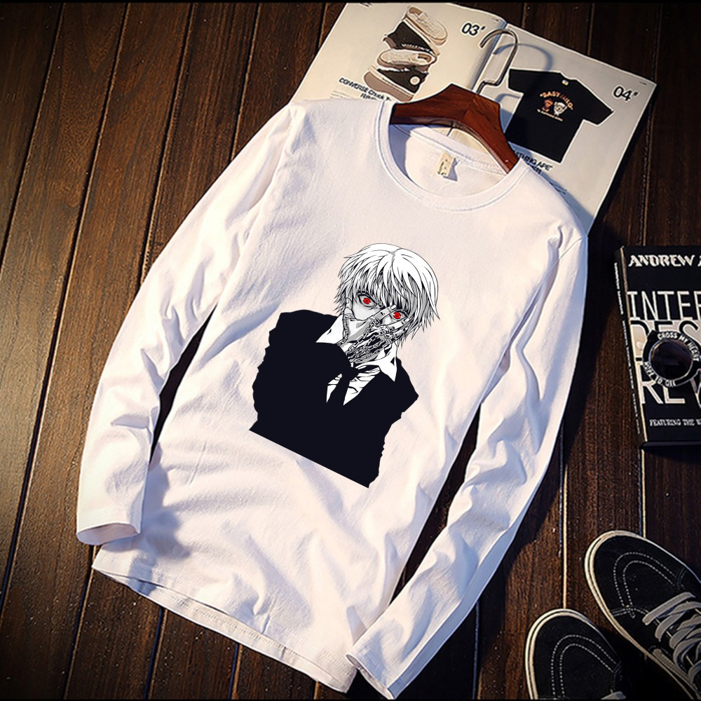 2018 Pure Cotton T-Shirt X Hunter Hisoka Anime Figure Printed Long Sleeve Fashion Casual Tops & Tees Brand Unisex Clothing