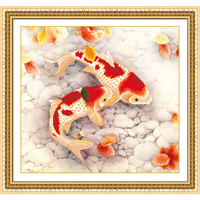 5d Diamond Painting Fishes Animals Diamond Inlaid Sitting Room Bedroom Adornment To Give A Child Gift