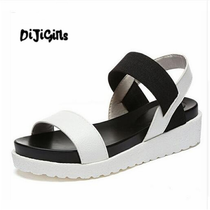 Summer Sandals For Women New Shoes Peep-toe Sandalias Flat Shoes Roman Sandals Shoes Woman Mujer Ladies Flip Flops Footwear hzxinlive elegant summer sandals women high heel wedges shoes woman round toe roman sandals ladies footwear female casual shoes