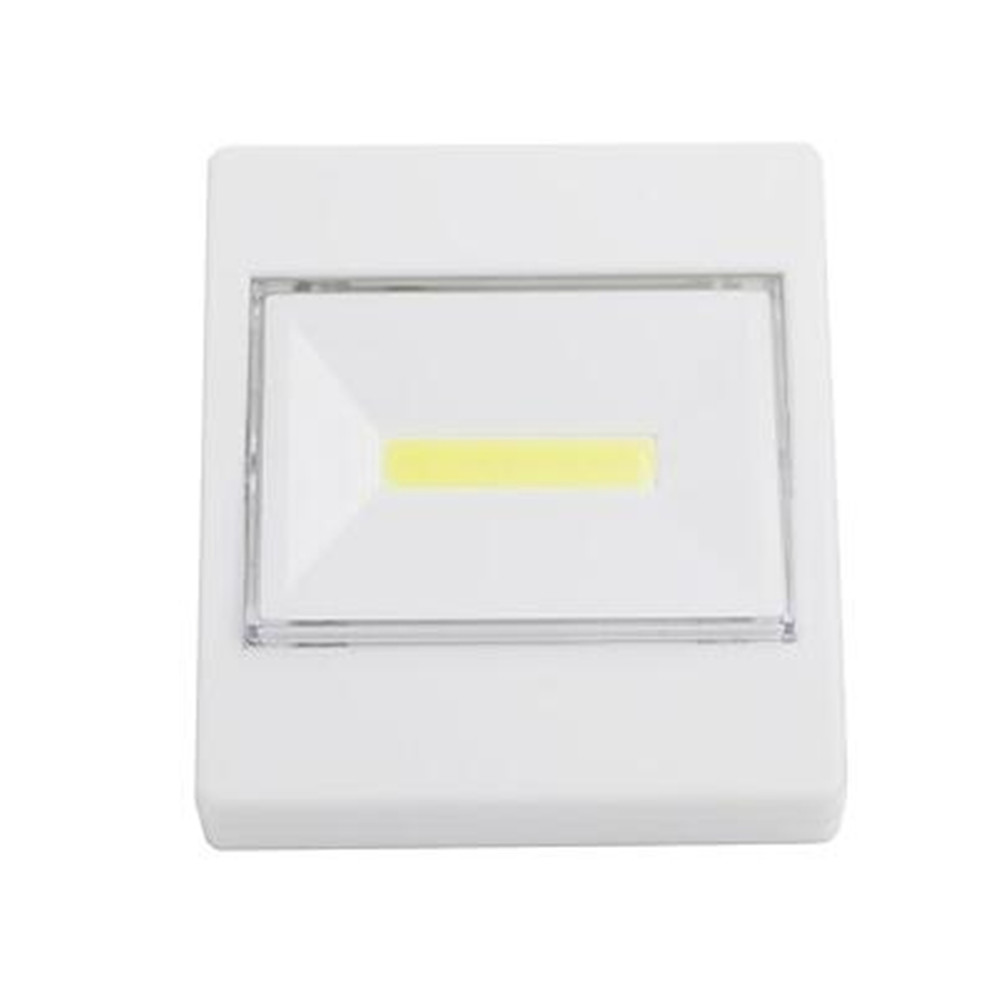 LED Night Light Switch Wall Lights Cold White Battery Operated Kitchen Cabinet Garage Closet Camp Emergency Night Lamp