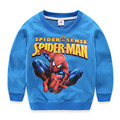 Top Quality Cartoon Spiderman Boys Sweatshirts Long Sleeve Caotton 3-10T Roupas Infantis Menino Felpe Bambina Moleton Infantil