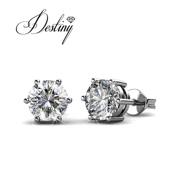 Destiny Jewellery Crystal Earrings Embellished With Crystals From Swarovski Stud Earring Single Stone Designs De0236