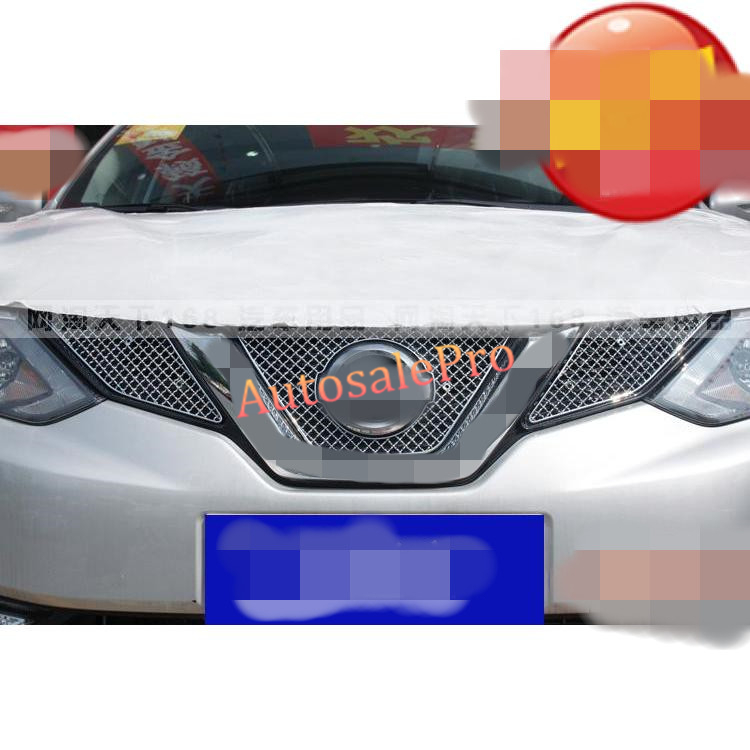 Steel Racing Front Grille Grill Bezel Honeycomb Mesh Cover Trim Grid for Nissan Qashqai 2014 2015 2016 racing grills version aluminum alloy car styling refit grille air intake grid radiator grill for kla k5 2012 14