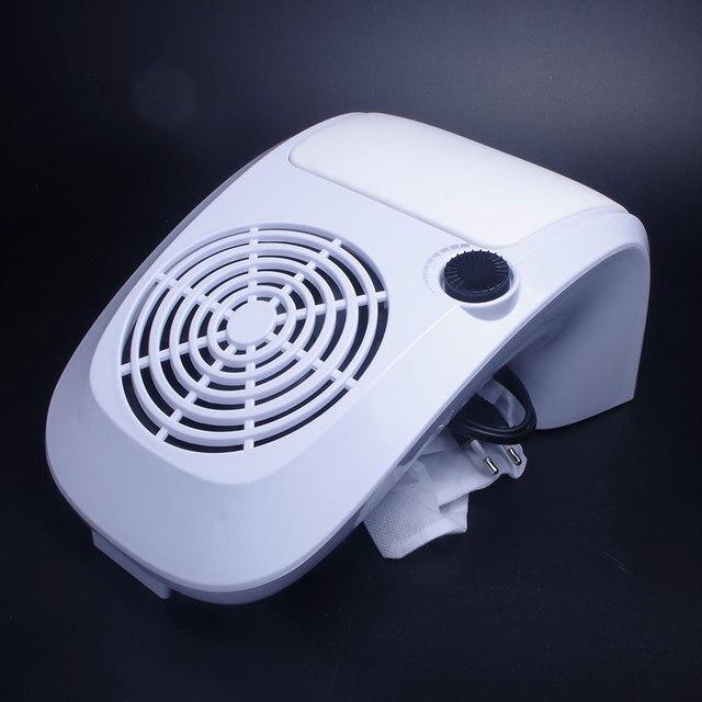 Fuerte de Arte de uñas colector de polvo 40 W Velocidad Ajustable uñas arte de la máquina de uñas salón de aspiradora para presentar y pulido