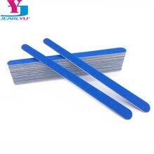 20 шт синие шлифовальные лимасы для маникюра, деревянные пилочки для ногтей, 180/240 аксессуары для ногтей, 17 см, пилка для педикюра, товары для ногтей Lima Unha