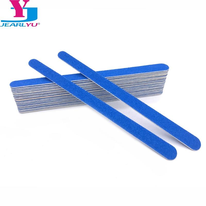 Пилки для маникюра и педикюра, деревянные пилки для ногтей, аксессуары для ногтей 180/240, 17 см, пилки для педикюра, синие пилки для ногтей, 20 шт.
