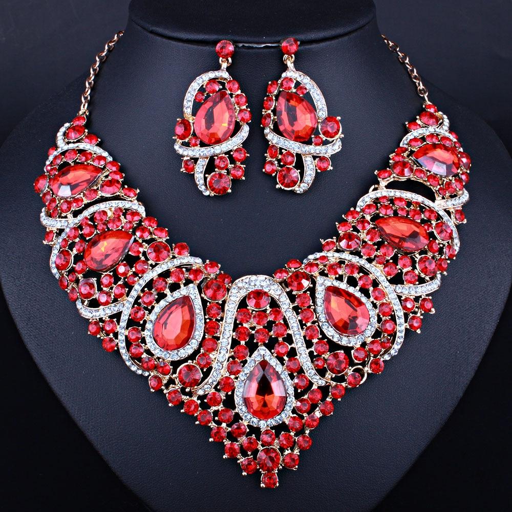 b11b81af746a Precio bajo resina collar de cristal gota pendientes para las mujeres boda  Africana perlas conjuntos de joyas en Sistemas de la joyería de Joyería y  ...