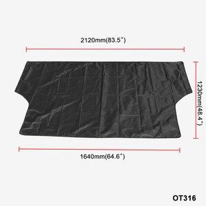 Image 1 - Couverture de pare brise de voiture imperméable été Anti UV soleil 2120*1230 mmDust bâche housses amovibles pour camion SUV Auto pare vent avant